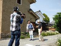 ゆうがたGetの取材でこてつの河合さんと蔵し館を通り長雲寺へ 放送は後日とのこと